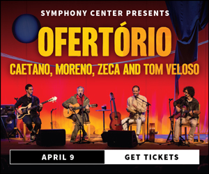 Caetano Veloso & Sons at Chicago's Symphony Center, Tuesday, April 9, 2019 . Tickets at wwwcso.org.